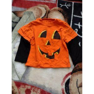 Kids Halloween Long Sleeve Shirt 18 Months Orange